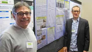 Dr. Woodfield and Dr. Hasick describe their poster presentation on Atlas Correction and Migraines