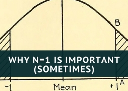 Why n=1 is important (sometimes)